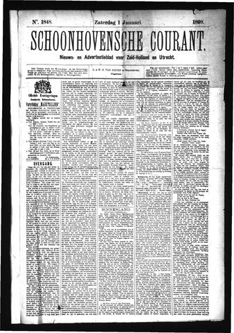 Schoonhovensche Courant 1898-01-01
