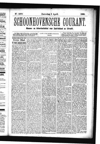 Schoonhovensche Courant 1899-04-01