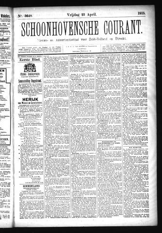 Schoonhovensche Courant 1915-04-23
