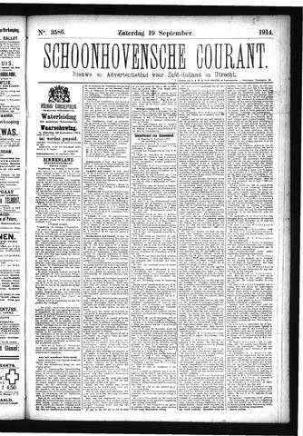 Schoonhovensche Courant 1914-09-19