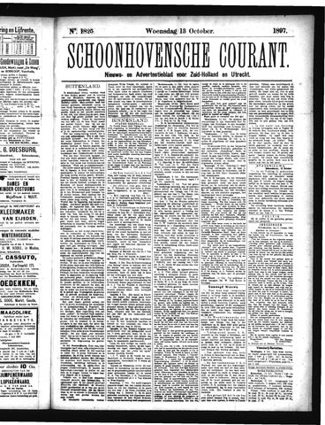 Schoonhovensche Courant 1897-10-13