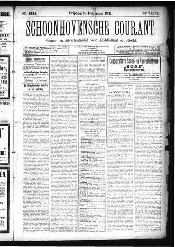 Schoonhovensche Courant 1921-02-18