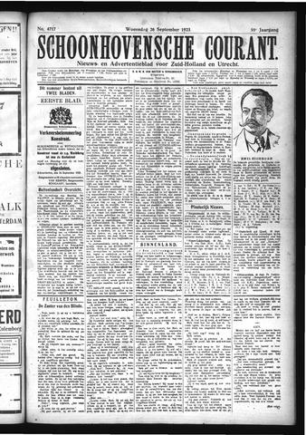 Schoonhovensche Courant 1923-09-26