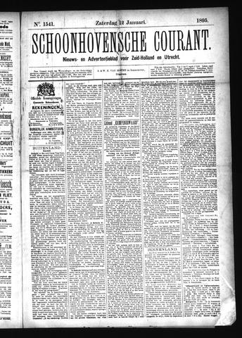 Schoonhovensche Courant 1895-01-12