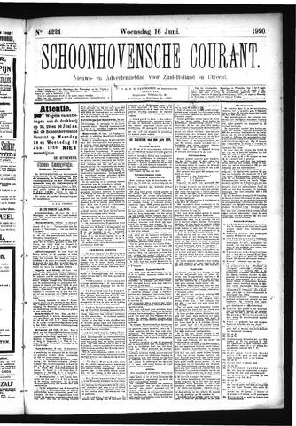 Schoonhovensche Courant 1920-06-16