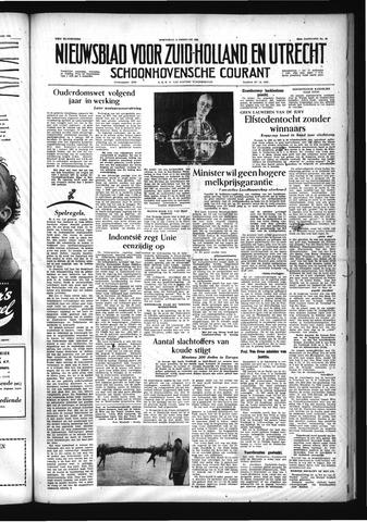 Schoonhovensche Courant 1956-02-15