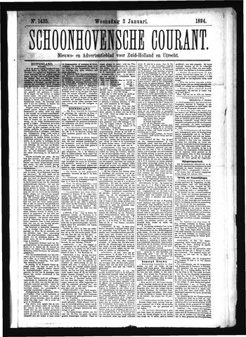 Schoonhovensche Courant 1894-01-03