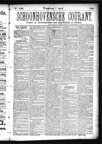 Schoonhovensche Courant 1920-04-07