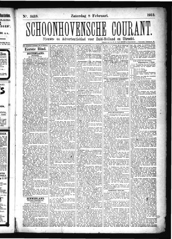 Schoonhovensche Courant 1913-02-08