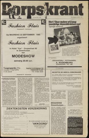Dorpskrant 1985-09-18