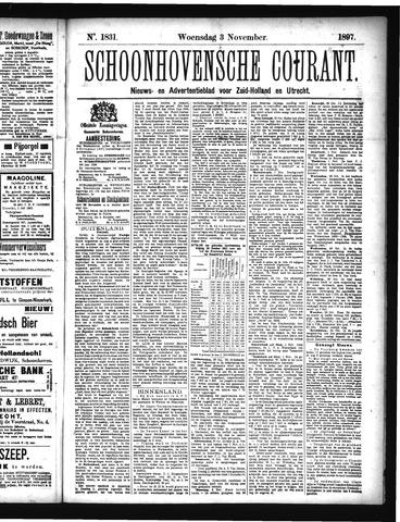 Schoonhovensche Courant 1897-11-03