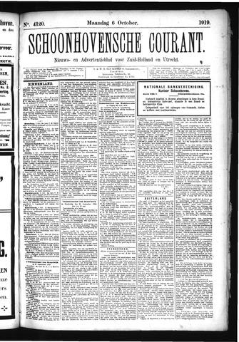Schoonhovensche Courant 1919-10-06
