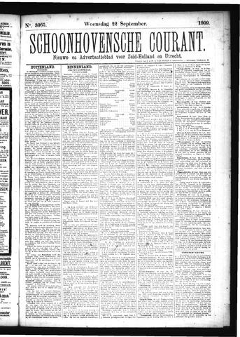 Schoonhovensche Courant 1909-09-22