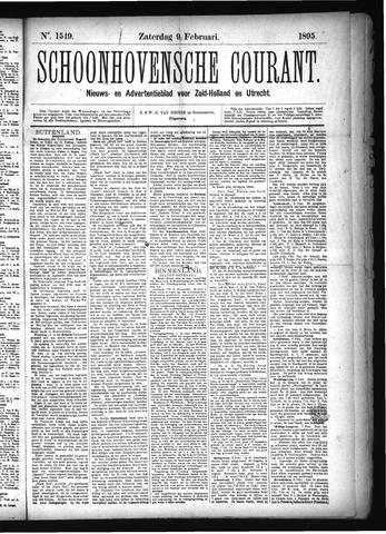 Schoonhovensche Courant 1895-02-09