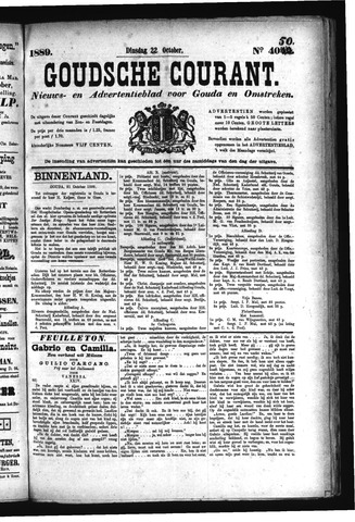 Goudsche Courant 1889-10-22