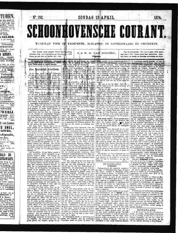 Schoonhovensche Courant 1874-04-12