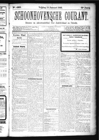Schoonhovensche Courant 1921-01-14