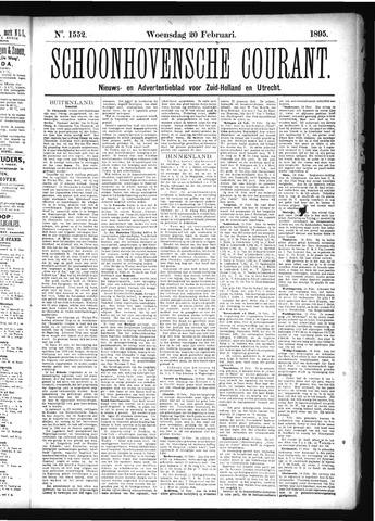 Schoonhovensche Courant 1895-02-20