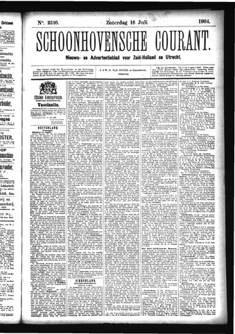 Schoonhovensche Courant 1904-07-16