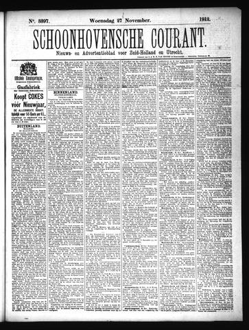 Schoonhovensche Courant 1912-11-27