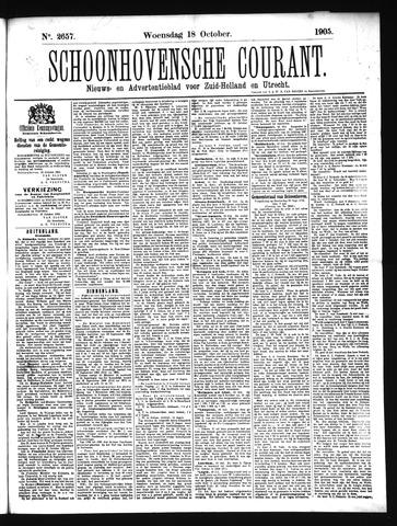 Schoonhovensche Courant 1905-10-18