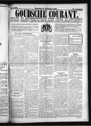 Goudsche Courant 1933-11-27