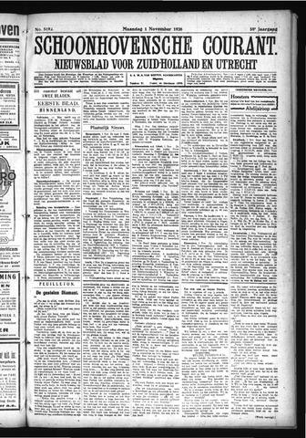 Schoonhovensche Courant 1926-11-01