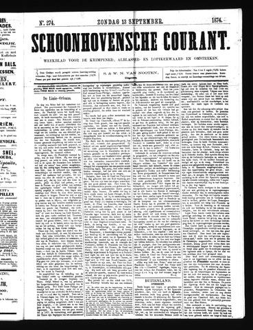 Schoonhovensche Courant 1874-09-13