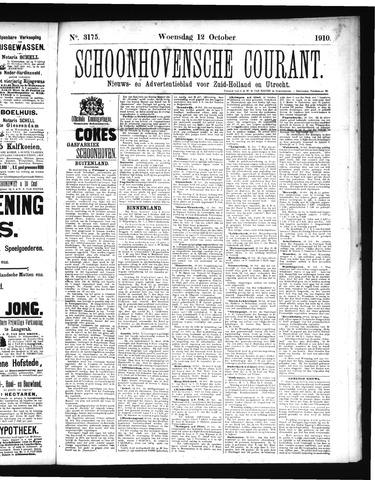 Schoonhovensche Courant 1910-10-12