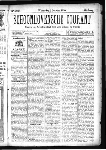 Schoonhovensche Courant 1920-10-06
