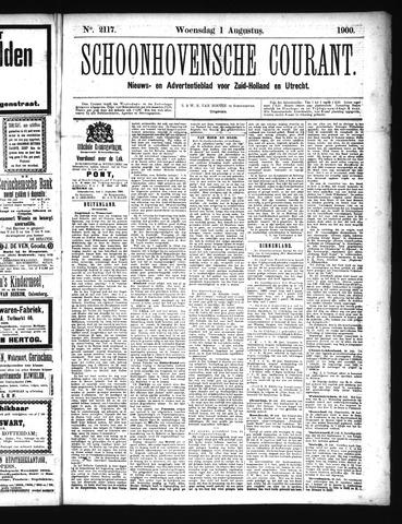 Schoonhovensche Courant 1900-08-01