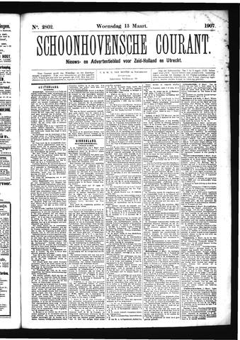 Schoonhovensche Courant 1907-03-13