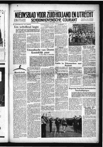 Schoonhovensche Courant 1954-04-28