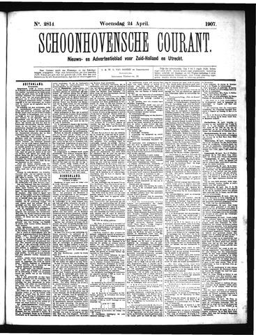Schoonhovensche Courant 1907-04-24