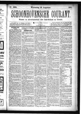Schoonhovensche Courant 1911-08-23