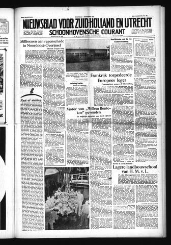 Schoonhovensche Courant 1954-09-01