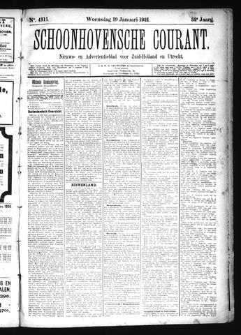 Schoonhovensche Courant 1921-01-19