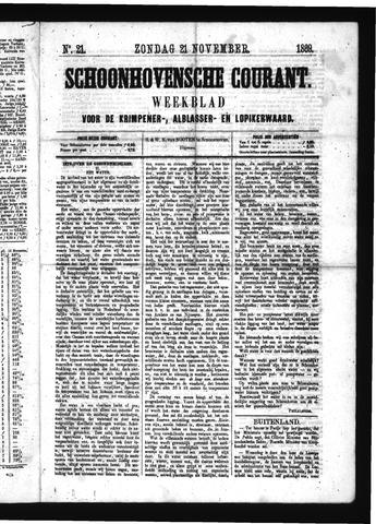 Schoonhovensche Courant 1869-11-21