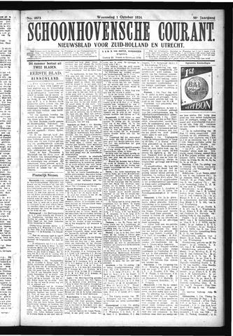 Schoonhovensche Courant 1924-10-01