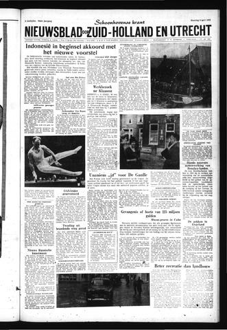 Schoonhovensche Courant 1962-04-09