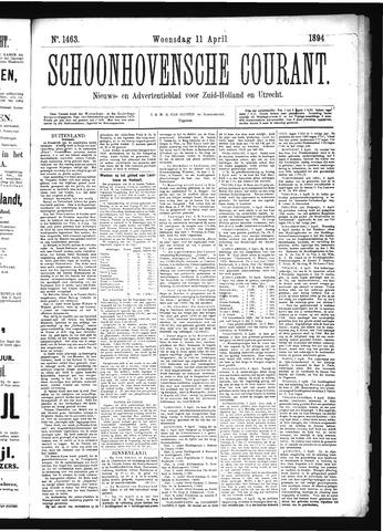 Schoonhovensche Courant 1894-04-11
