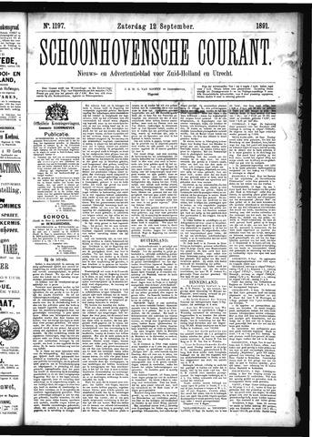Schoonhovensche Courant 1891-09-12