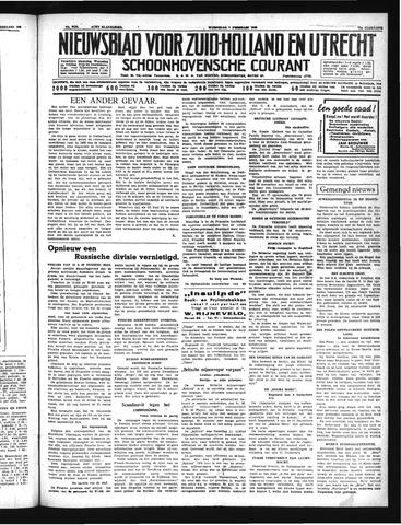 Schoonhovensche Courant 1940-02-07