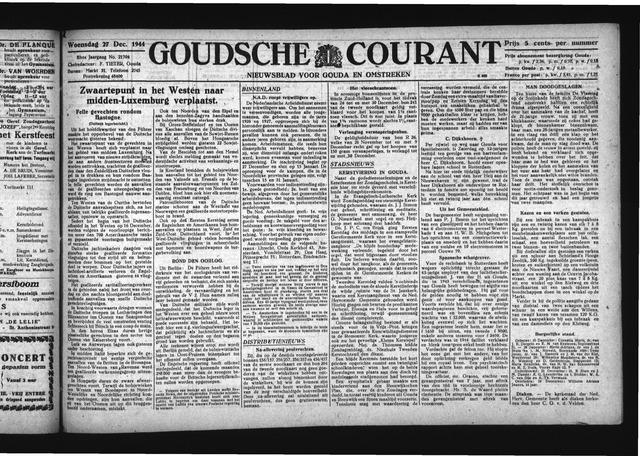Goudsche Courant 1944-12-27