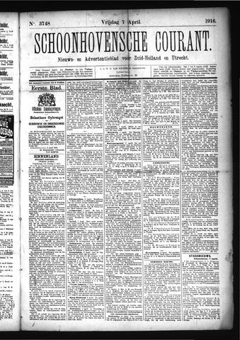 Schoonhovensche Courant 1916-04-07
