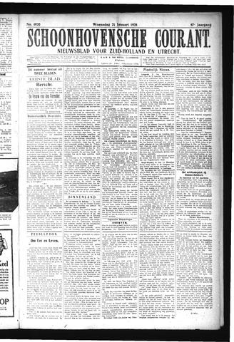 Schoonhovensche Courant 1925-01-21