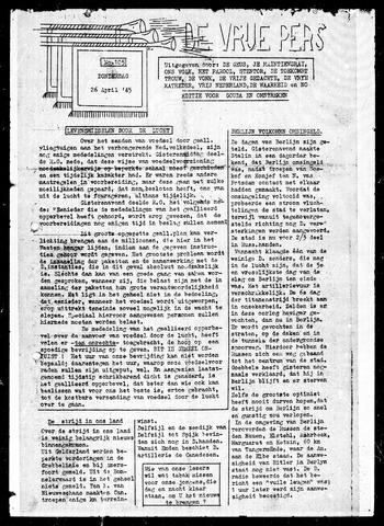 De Vrije Pers 1945-04-26
