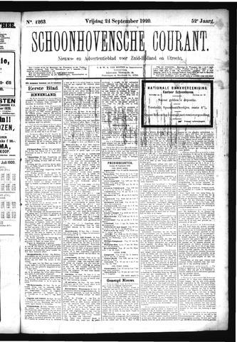 Schoonhovensche Courant 1920-09-24