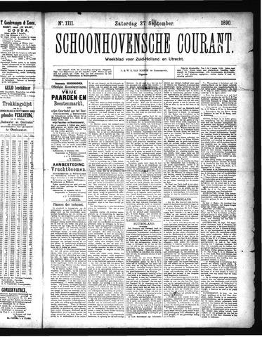 Schoonhovensche Courant 1890-09-27