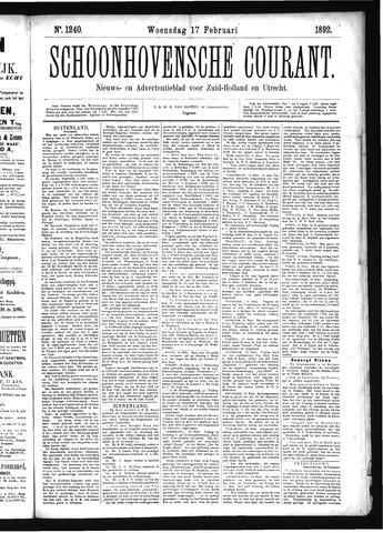 Schoonhovensche Courant 1892-02-17